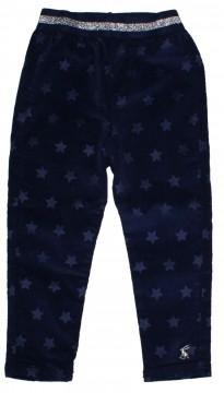 Etwas dickerer Navy Blaue Samt Cord Leggins mit Sternen Allover von JOULES 210698