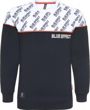 Cooler Logo Sweater in Nachtblau / Weiß AOP von BLUE EFFECT für Boys 6102