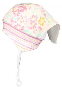 Sommerlich leichte Kopftuchmütze in Aquarell Pastelltönen Flower Style von MAXIMO 035500