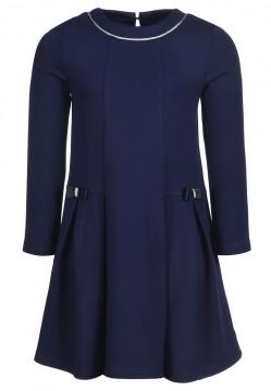 Edles Navy Blaues Kleid mit Silber glitzernder Paspel & Zierschleifen von HAPPY GIRLS 903174