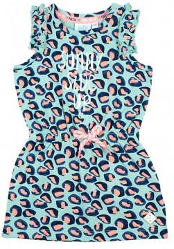 """Süßes Kleidchen in Mint mit Leo Print für kleine Mädels von FEETJE """"Botanic Blush"""" 0324"""