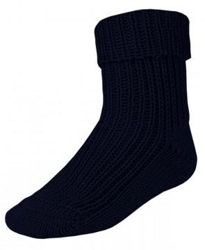 Umschlagsocke aus reiner Wolle - perfekt für kalte Tage von MAXIMO in Natur oder Marine 214500