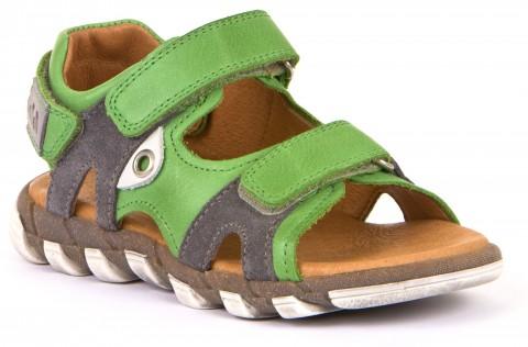 Trekkingsandale aus weichem Leder mit Lederfußbett in Grün / Grau von FRODDO 3150165