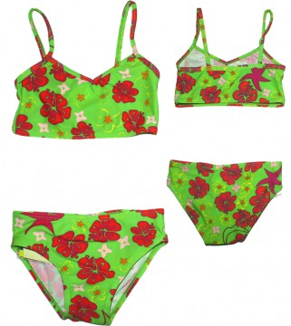 Bikini mit UV Schutz 80 in Lemon Green HAWAII von PLAYSHOES