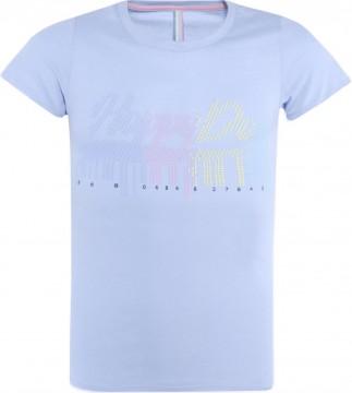T-Shirt aus weichem BW Jersey in Sky Blue mit buntem Print von BLUE EFFECT 5496
