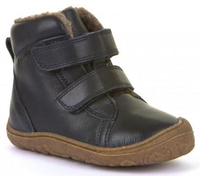 Flexibler Stiefel mit Klett, schmale Weite, Leder mit Wollfutter in Marine von FRODDO G2110086-10