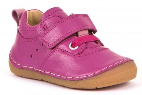Flexibler Halbschuh, Glattleder mit Klett, für hohen Spann & breitere Füße in PINK von FRODDO 30189
