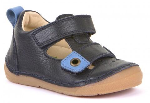 Leder Halbsandale für breitere Füße mit hohem Spann in Dark Blue, Flex Sohle von FRODDO 2150111