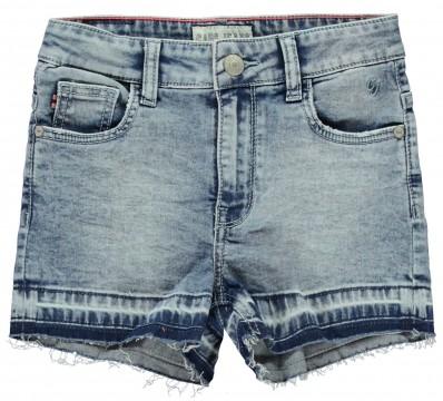 Super Stretch Hot Pants / kurze Jeans in Medium Blue mi offenen Kanten von CARS JEANS 3383805