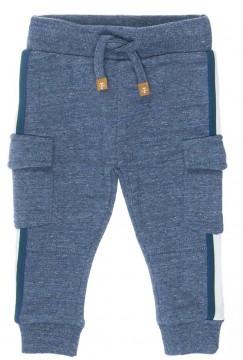 Coole Sweatpants in Denim Blue mit Cargotaschen & sportl. Seitenstreifen von FEETJE 1370