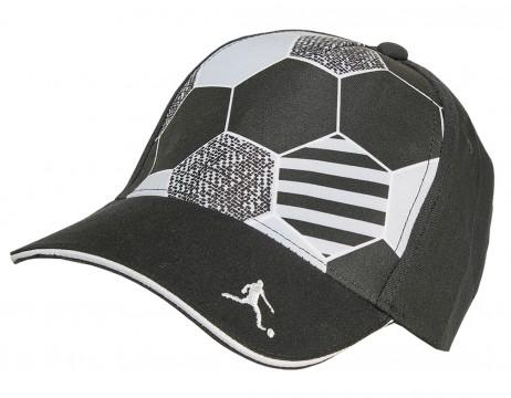 Cooles Fußball Base Cap in Schwarz mit verstärkter Front von MAXIMO 918976