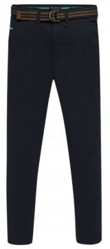 Schicke Anzughose / Chino Hose in Dark Navy mit optionalem Gürtel, Slim Fit von MAYORAL Teens 7513