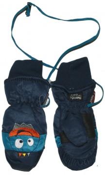 Wasserdichte, atmungsaktive Fausthandschuhe mit Band mini Monster von MAXIMO Blau 588700