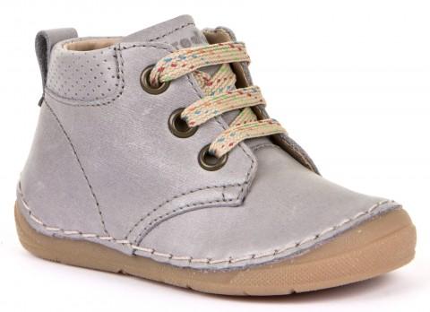 Halbschuhe Flexsohle, Schnürer, Glattleder, hoher Spann & breitere Füße Light Grey FRODDO 30219