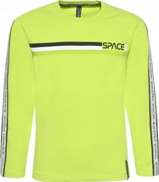 LA Shirt in Neon Apfel Green aus BW Jersey mit Logo Webband am Arm von BLUE EFFECT 6085