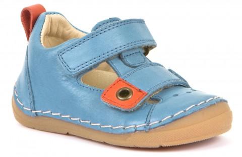 Leder Halbsandale für breitere Füße + hohem Spann in Jeans Flex Sohle von FRODDO 2150111