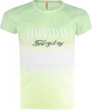 Cooles T-Shirt im Farbverlauf in Neon Grün / Gelb mit Pailletten Stick von BLUE EFEFCT 5457