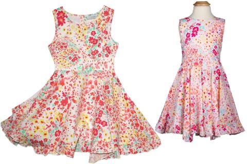 ac9526a4ed7617 Weit schwingendes Sommerkleid mit buntem Blüten Print von EISEND KIDS Happy  Girls 971355