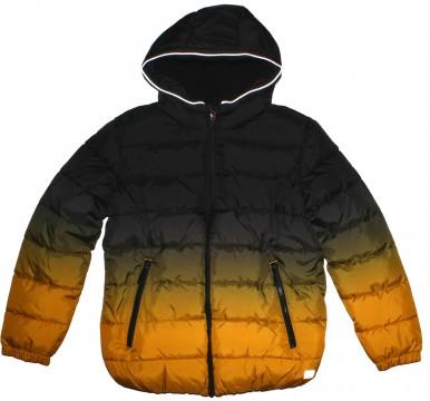 Fleece wattierte Steppjacke / Winterjacke im Farbverlauf Schwarz / Gelb von s.Oliver 2294