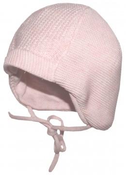 Süße Babymütze Uni in Zart Rosa aus weichem BW Strick, zum binden von MAXIMO 286800