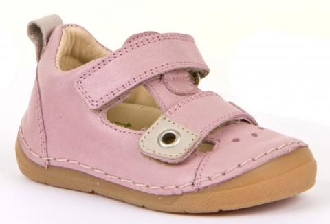 Leder Halbsandale für breitere Füße + hohem Spann in Rosa Flex Sohle von FRODDO 2150111
