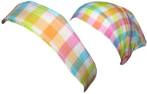 Leichtes Haarband / Kopftuch in Pastelltönen kariert von DÖLL Modell 1415355605 fb2023