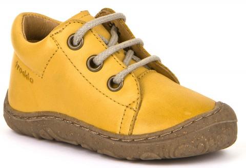 Flexible Halbschuhe, Barfußschuhe, Schmal, aus Leder, Schnürer, in Senf Gelb von FRODDO 30204