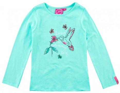size 40 49197 19ce0 LA Shirt in leuchtendem Mint Aqua Ton mit Vogel Print von JUBEL Serie:  PACIFIC 0100