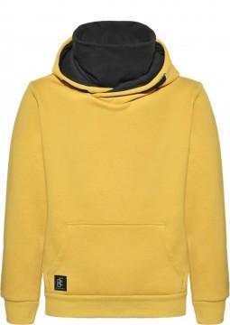 Cooler Hoodie / Kapuzensweater in Maisgelb + eingenähte Behelfsmaske von BLUE EFFECT 6155