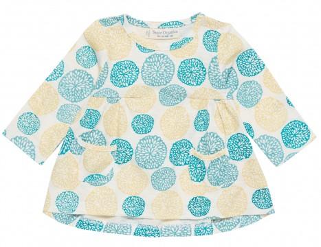 LA Tunika Shirt in Weiß/ Gelb / Grün Tönen aus BIO BW von SENSE ORGANICS 1911756