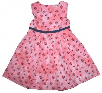 Zauberhaftes Sommerkleid in Pink mit Roten & Blauen Punkten von TOPO in Fashion 212552-803