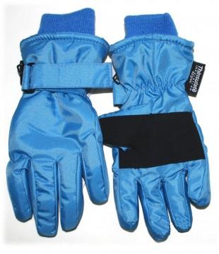 Skihandschuhe Fingerhandschuhe mit Teflon Besch. breites Bündchen von MINYMO Skyblau