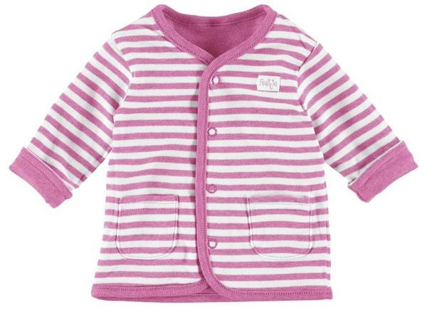 Girls' Clothing (newborn-5t) Clothing, Shoes & Accessories Wendejacke Aus Weicher Baumwolle Uni Oder Gestreift In Pink Melange Von Feetje