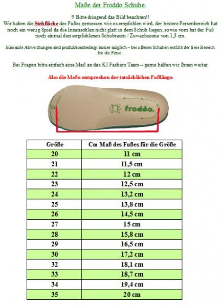 Klettverschlu/ß G2150099-5 Flexible Riemen Froddo Halbsandale in Braun Flexible Sohle